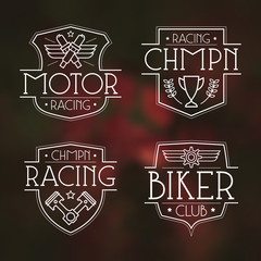 Racing badges for t-shirt