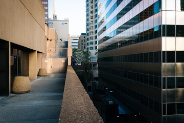 Modern buildings in the Financial District, Los Angeles, Califor