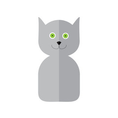 Cat label in flat style