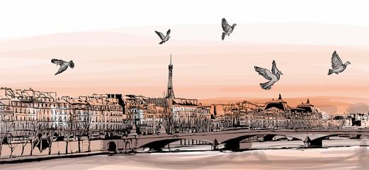 Printed roller blinds Art Studio View of Paris from