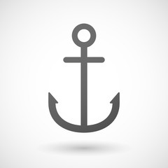 Grey anchor icon