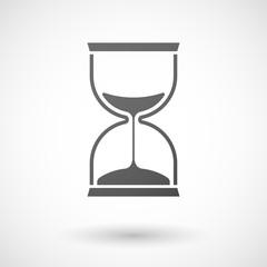 Grey sand clock icon