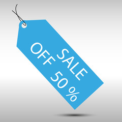 shopping sale ticket fifty off