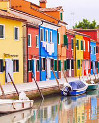 Painted houses in Italy