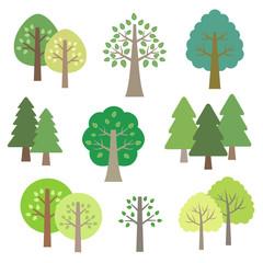 木の素材セット / vector eps10