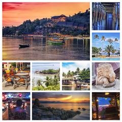 Set of Thailand islands Samui and Phanghan