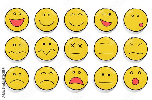 verschiedene Smileys  Stockfotos und lizenzfreie