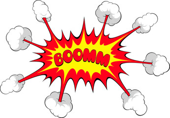 Comic explosion, Boom