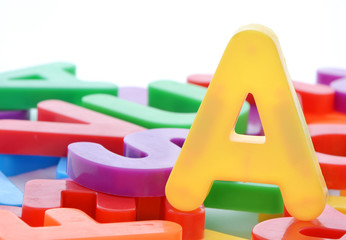 Letter A and alphabet