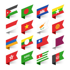 Flags of the World, Asia, set 3
