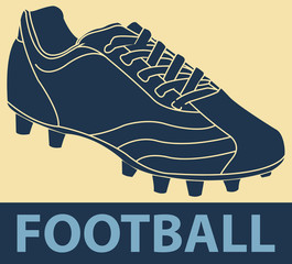 Chaussures de football pop art
