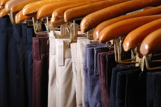 Group of Pants at retail shop