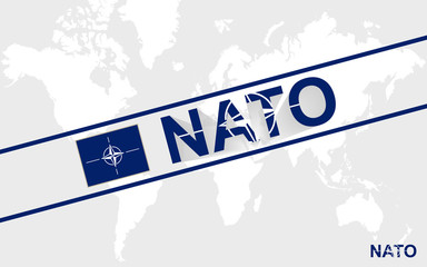 Nato flag and text illustration