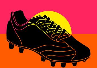 Chaussure de football pop art