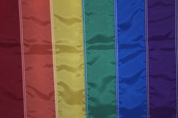 Rainbow flag from gay pride celebration