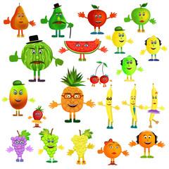 fruit cartoon icons