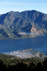 san pedro la laguna, guatemala seen from above