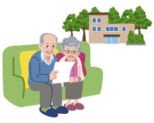 夫婦 シニア Senior couple planning to move their retirement home