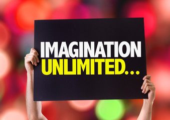 Imagination Unlimited... card with bokeh background
