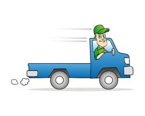car pickup driver truck character image vector