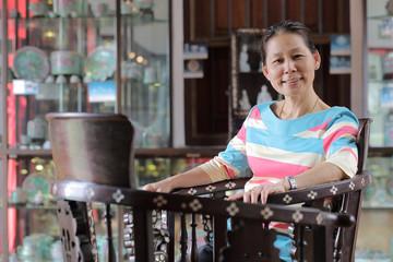 Asian senior adult portrait