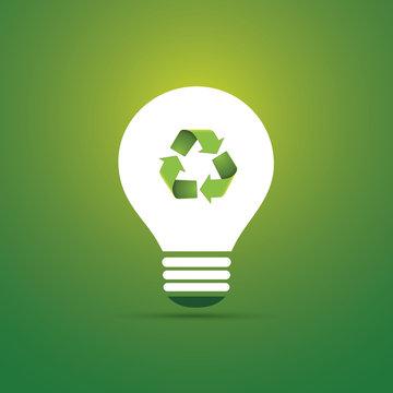 Green Eco Energy Concept Icon - Recycling