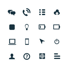 UI Outline For Web and Mobile icons set