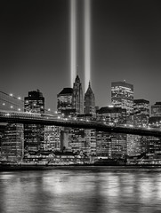 Fotomurales - Tribute in Light, September 11 Commemoration, New York City