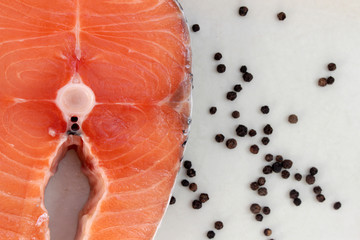 Salmon and black peper