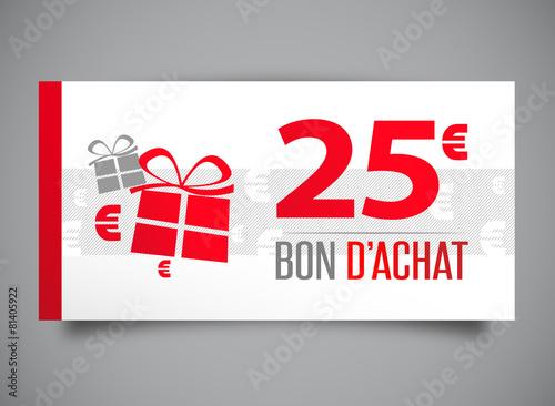 Bon d 39 achat de 25 euros fichier vectoriel libre de droits sur - Bon de reduction vente unique livraison gratuite ...