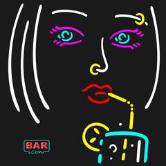 Neon Girl Symbol
