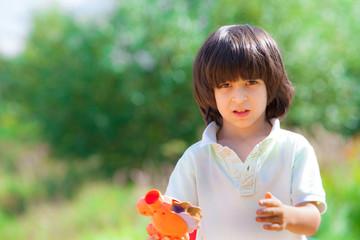 boy portrait on outdoor