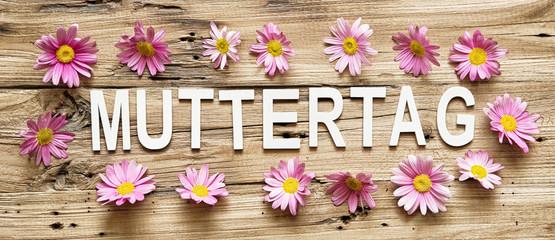 Wall Mural - Muttertag Hintergrund Blumen