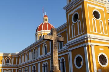 Cathedral view, Granada, Nicaragua, Central America.