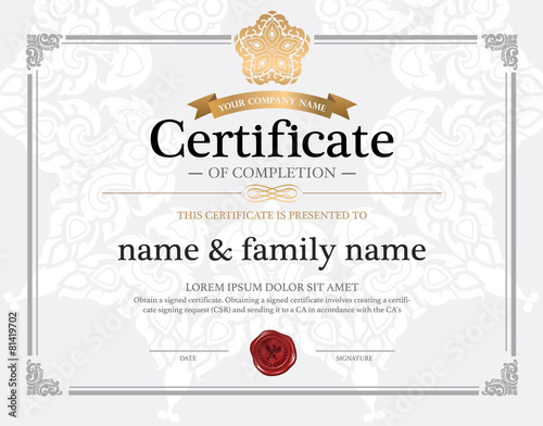 Certificate design template stock image and royalty free vector certificate design template yadclub Image collections