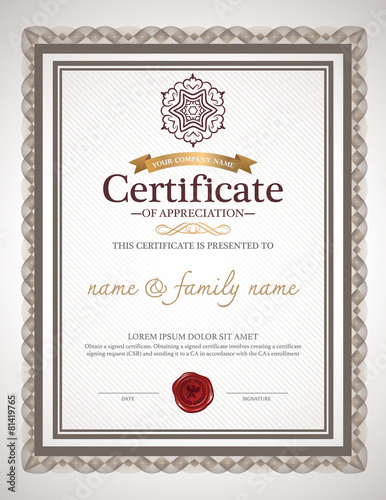 """certificate design template."""" Stock image and royalty-free vector ..."""