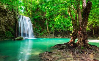 Wall Mural - Erawan Waterfall at Thailand National Park