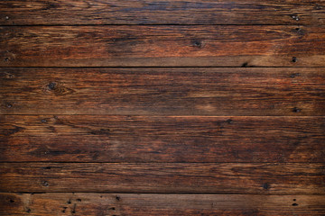 Old red wood background, rustic wooden surface with copy space Wall mural