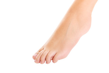 Woman's bare foot.
