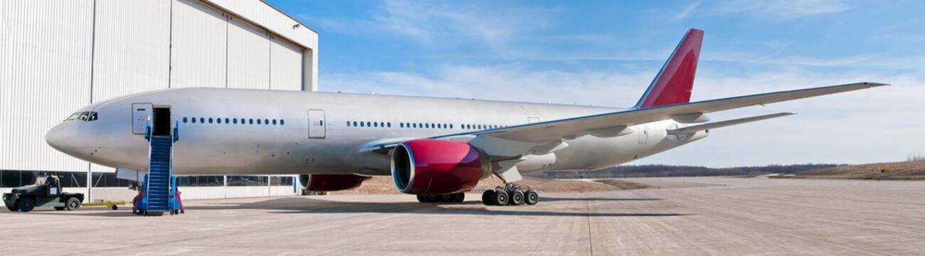 Panoramic passenger airplane