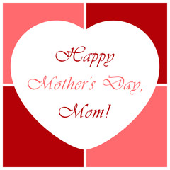 Mothers Day greeting card with heart