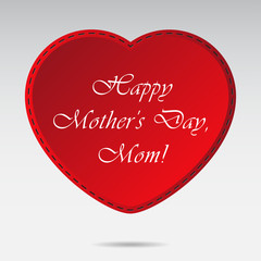 Mothers Day card with red heart