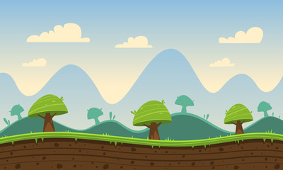 Game Cartoon Background