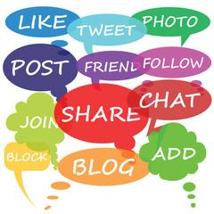 Social Media chat bubbles, vector
