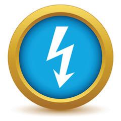 Gold lightning icon