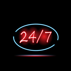 24/7 Neon Sign