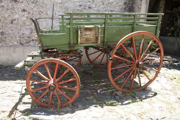 Colonia Del Sacramento - Decorative Wooden Wagon In The Street