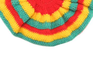 rasta hat hippie background