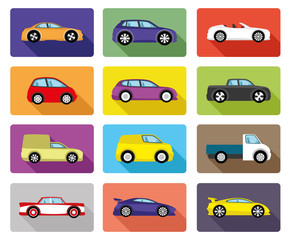 Vector set. Car icons.