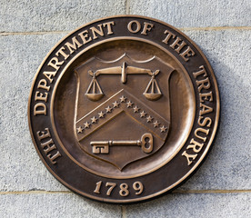 Present Seal Sign Symbol US Treasury Department Washington DC